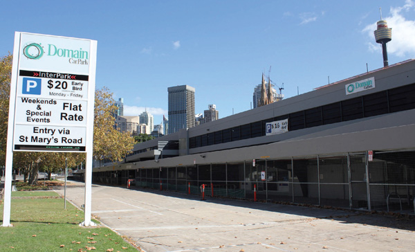 Domain Car Park – upgrade